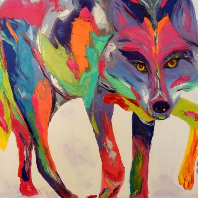 Mexican Grey Wolf. Oil. 24