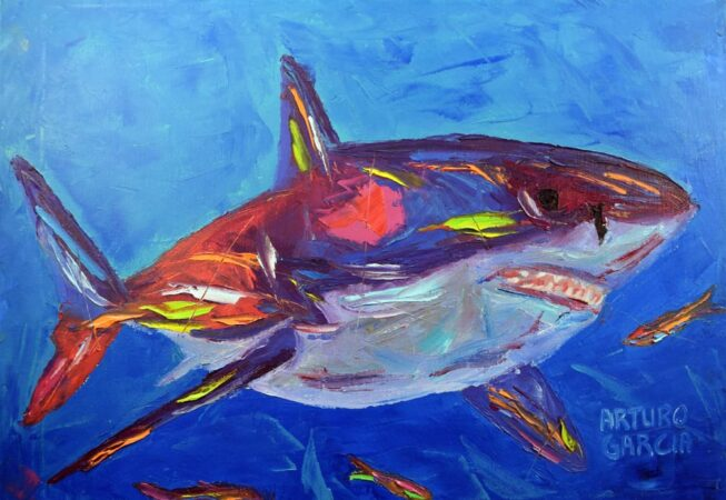 """The Great White. Oil. 16""""X20."""" Available."""