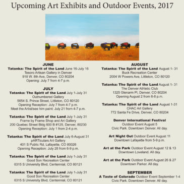 Upcoming Art Exhibits and Summer/Fall Events 2017