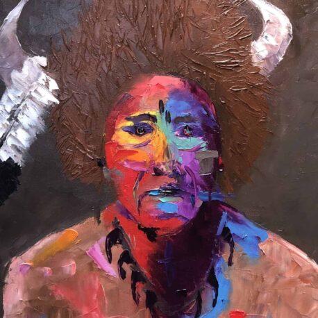 """Bull's Neck. Oil. 16""""X20"""""""