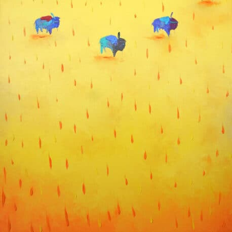 """Buffalo Walkers. Oil. 24""""X30"""" Available"""